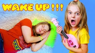 Play musical instruments and wake up mom