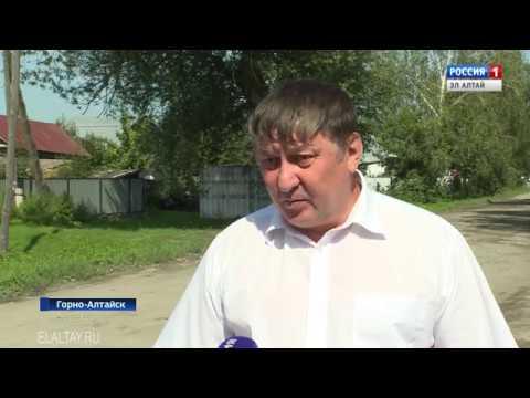 В Горно-Алтайске устраняют последствия ливневых дождей