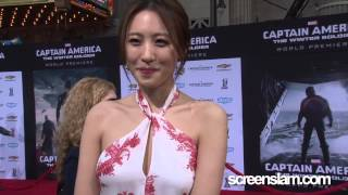 captain america the winter soldier exclusive premiere with soo hyun kim