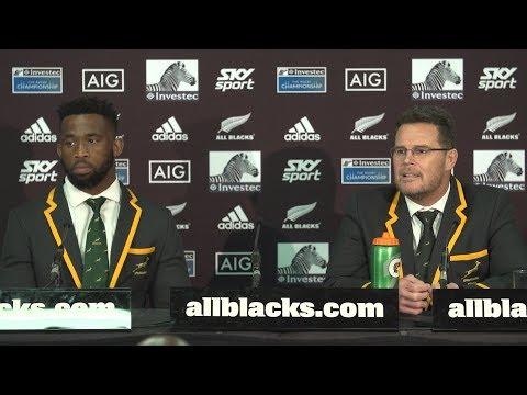 PRESS CONFERENCE: Springboks defeat All Blacks in thriller
