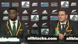 PRESS CONFERENCE: Springboks defeat All Blacks in thriller