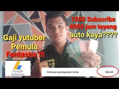 bongkar gaji yutuber pemula ??? 1000 Subscribe dan 4000 jam tayang !!!