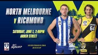 Rd 9: VFL North Melbourne vs Richmond