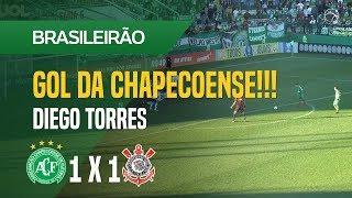 GOL (DIEGO TORRES) - CHAPECOENSE X CORINTHIANS - 12/08 - BRASILEIRÃO 2018