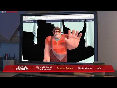 Ralph Breaks The Internet (2018) Blu-ray™ Disc | Main Menu | Menu Walkthrough