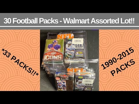 brand new cfda3 1f4fb WALMART 30 Assorted Football Pack Lot For Under $22!!! (33 ...
