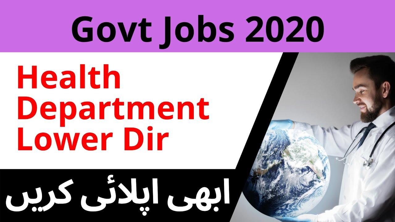 Health Department District Dir Lower Jobs 2020   Latest ...