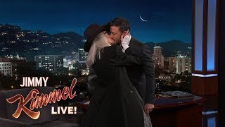 Diane Keaton Kisses Jimmy Kimmel