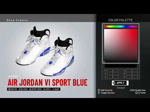 90116f514b3010 NBA 2K19 Shoe Creator - Air Jordan 8 `Ice Blue` by Zorify