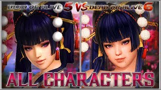 DEAD OR ALIVE 6 All Characters Compared to DOA5LR (Full Roster) | PS4, XB1, PC 2019