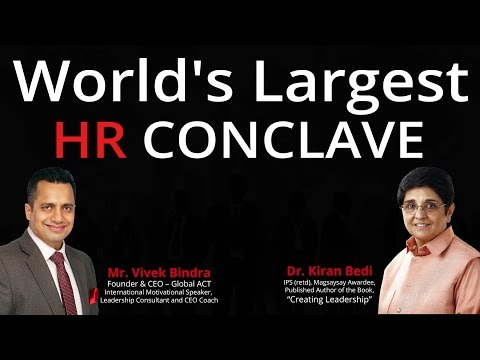 Worlds Largest HR Conclave by Best Leadership Trainer in India Vivek Bindra