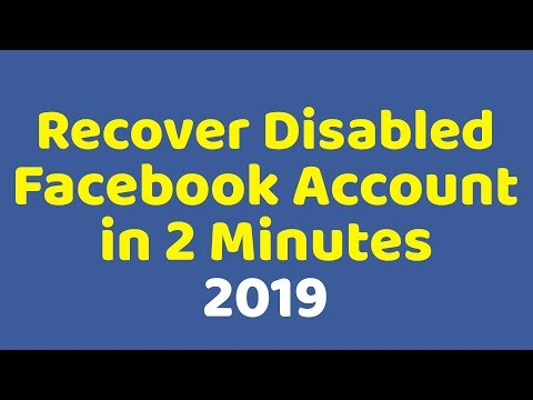 Recover Disable Facebook Account   100% Working Try Now   2019 Method