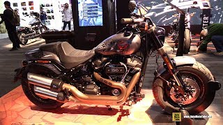 2019 Harley Davidson Fat Bob Accessorized - Walkaround - 2018 EICMA Milan