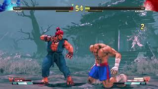 STREET FIGHTER V Sagat vs Akuma