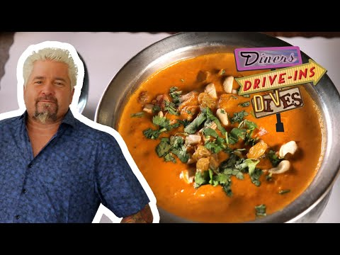 Guy Fieri Tries an Incredible Chicken Tikka Masala | Diners, Drive-Ins and Dives | Food Network