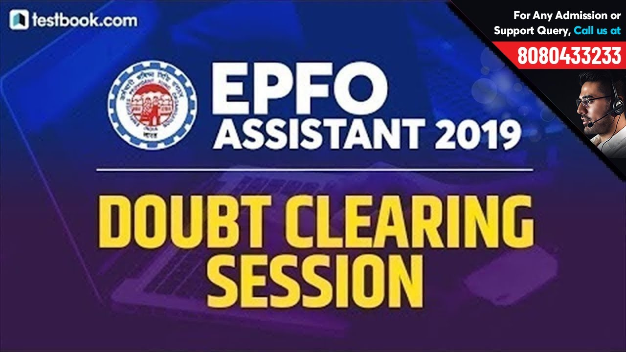 Last Minute Tips for EPFO Assistant 2019 Exam | Doubt Clearing Session | EPFO SSA Model Paper