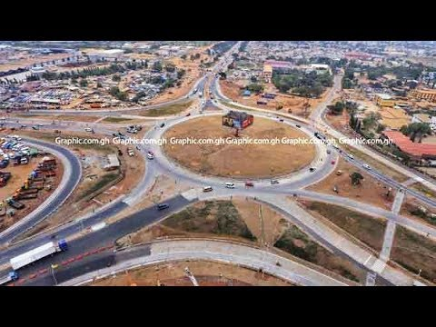 Tema Motorway roundabout opens to traffic
