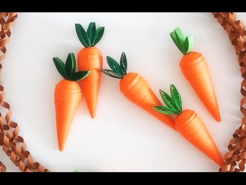 Paper Quilling Carrot //3D Quilling
