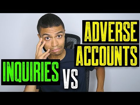 Difference Between Inquiries and Adverse Accounts?    Credit Report Help    Fix Credit