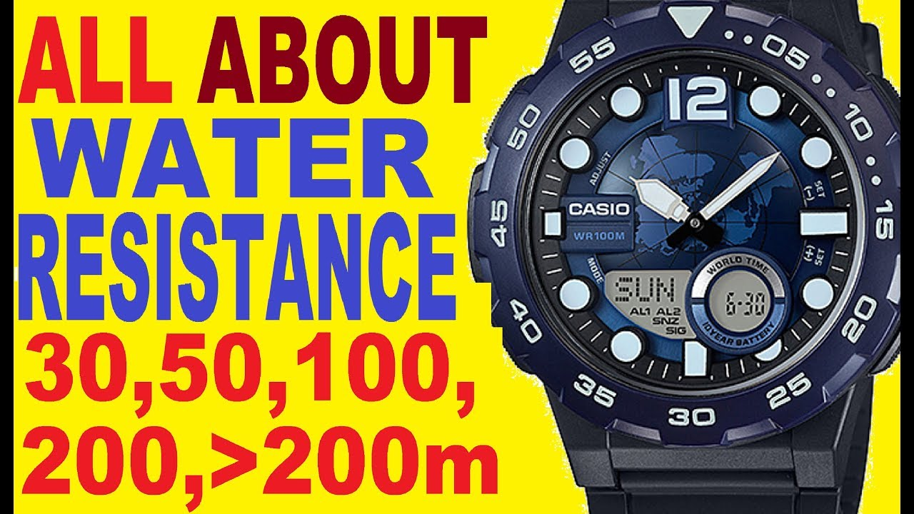 Casio Water Resistant Watch Wr 30m 50m 100m 200m