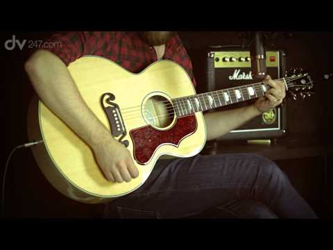 Gibson J-200 Studio Acoustic Guitar Demo