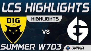 DIG vs EG Highlights LCS Summer 2020 W7D3 Dignitas vs Evil Geniuses by Onivia