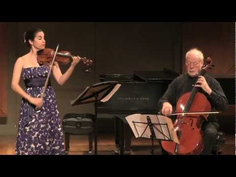 Johann Halvorsen - Duo for Violin and Cello - Center Stage Strings Benefit Concert 2012