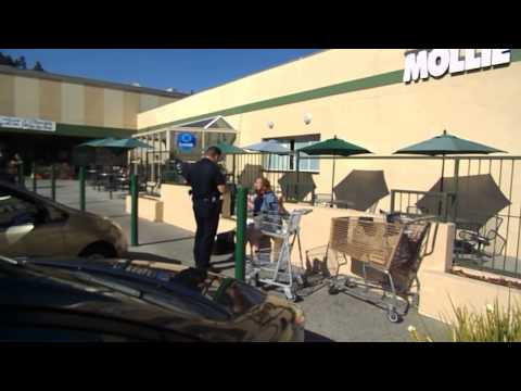 Shoplifter apprehended at Molly Stones Grocery Store in Palo Alto California