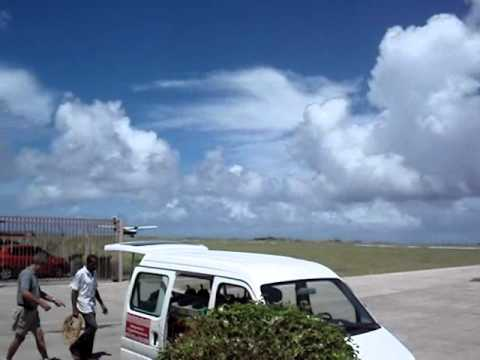 Saba, Netherlands Antilles - Take off