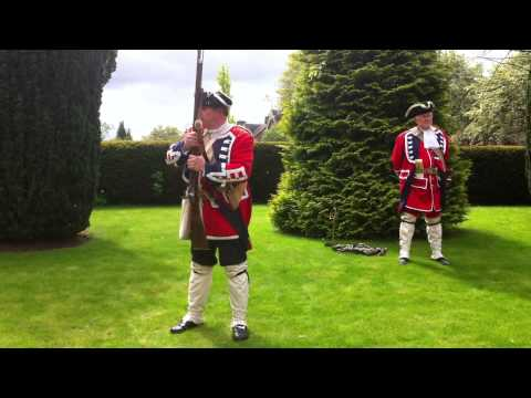 1743 Mutiny re-enactors at Black Watch Museum for Festival of Museums.
