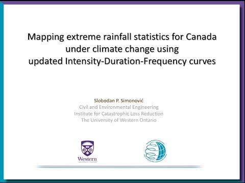 Mapping Extreme Rainfall Statistics for Canada