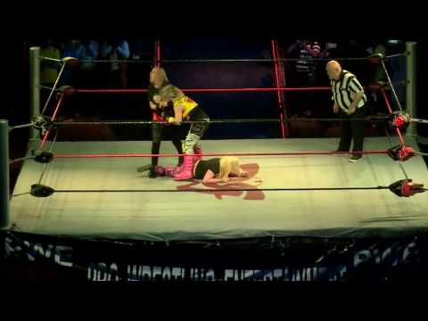 PWE Women Wrestling in Pakistan Triple Threat Angle's Bombita, Betty Trash & Audrey Bride