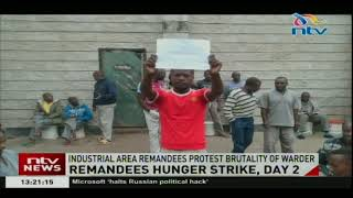 Industrial Area remandees protest brutality of warder