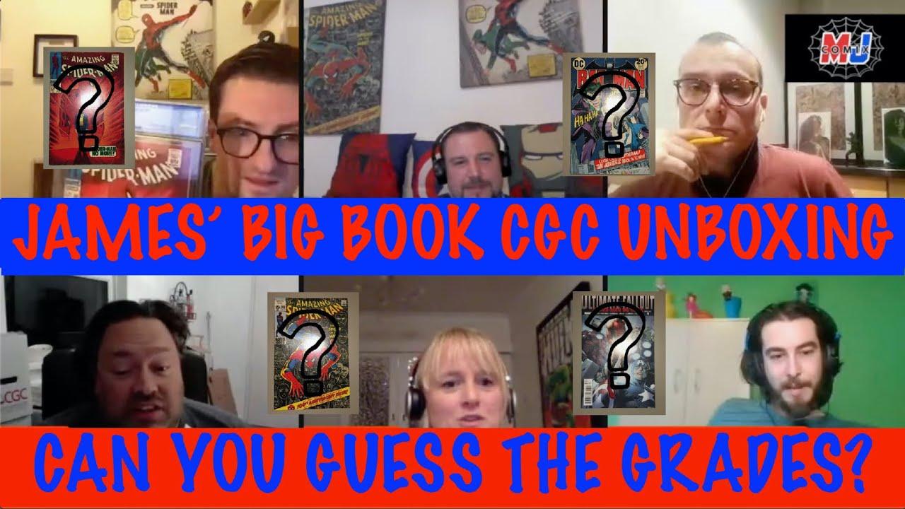 James' Big Book CGC Unboxing - Guess the grades