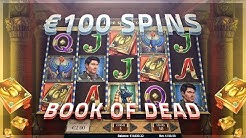 BOOK OF DEAD BONUS = 100€ SPINS