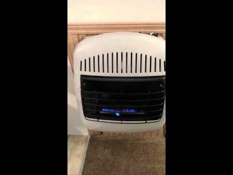 Lp gas wall heater