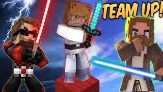 JOIN THE DARK SIDE! Star Wars Minecraft Team-Up! (Minecraft Bed Wars Roleplay)