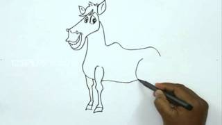How to Draw a Farm Horse