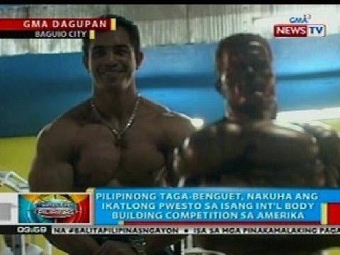 BP: Pilipinong taga-Benguet, nakuha ang ika-3 pwesto sa int'l body building competition sa Amerika