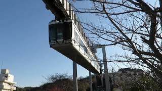 湘南モノレール・桜とモノレール(Shonan Monorail)