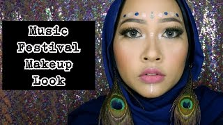 Music Festival Coachella Inspired Makeup Tutorial | Boho Style Makeup | Firda Velayati