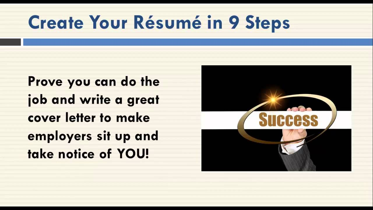CV And Resume Writing : 9 Steps To Resume And CV Success  Steps To Writing A Resume