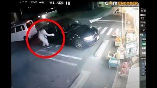 (防犯カメラ) 高級車があっという間に盗まれる瞬間 security camera