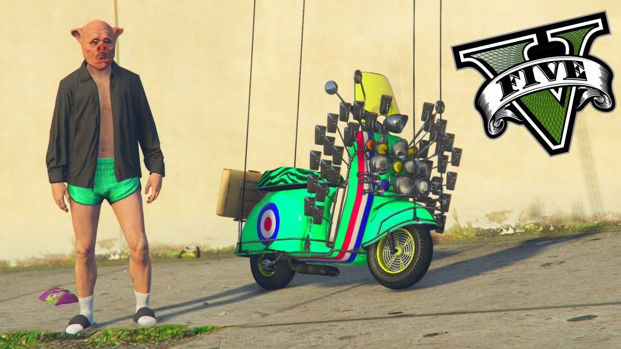 Gta 5 come vestirsi da porkmodz suino pi nuova for Immagini di clown da colorare