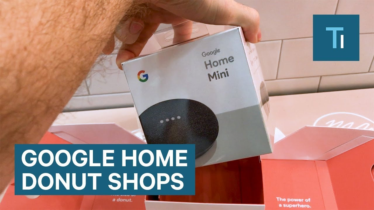Google Home Donuts >> Google Home Mini Giveaways At Pop Up Donut Shops Across The Us Youtube