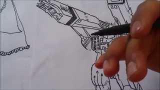 How to Draw Kawaii ROBOTECH SDF 1 THE CENTINELA 1#BOCETO X db