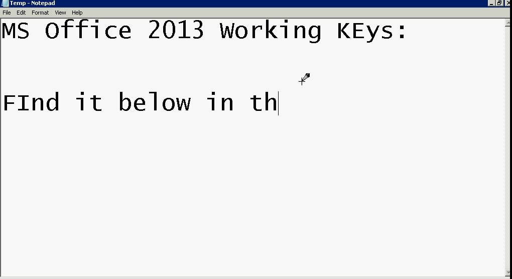 office 2013 crack activation key