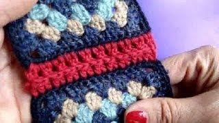 Вязание крючком Урок 235 Соединение мотивов 5 join crochet motifs