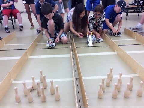 Robodogs Robotic Camp Day 3: Bowling