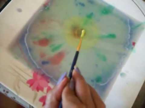 Making Marbled Papers Using Seaweed